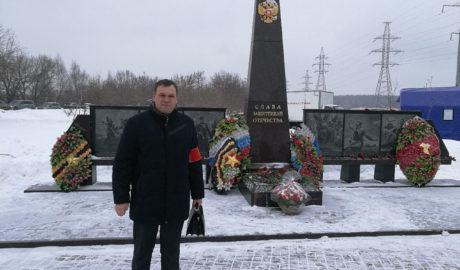 Атаман Посольской станицы Войска Донского в г.Москве Данцевич Юрий на мероприятии.