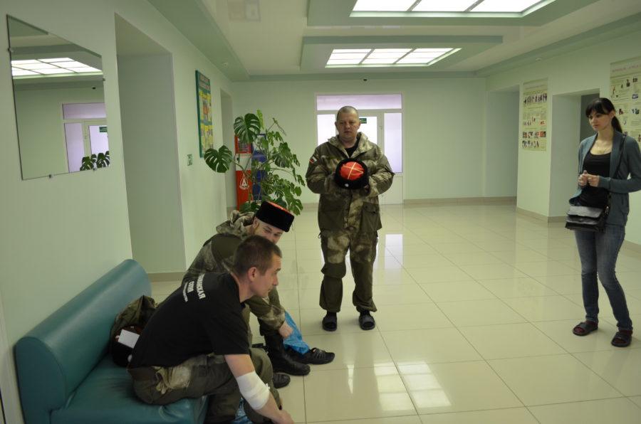 Тамбовские донские казаки в Центре крови.