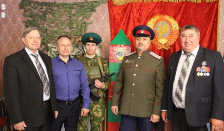 Организаторы выставки в городе Мичуринске посвящённой 100-летию погранвойск.