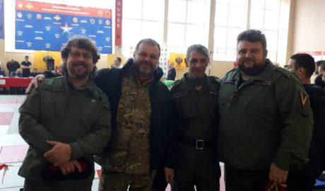 Казаки СДК приняли участие в открытии турнира по рукопашному бою.