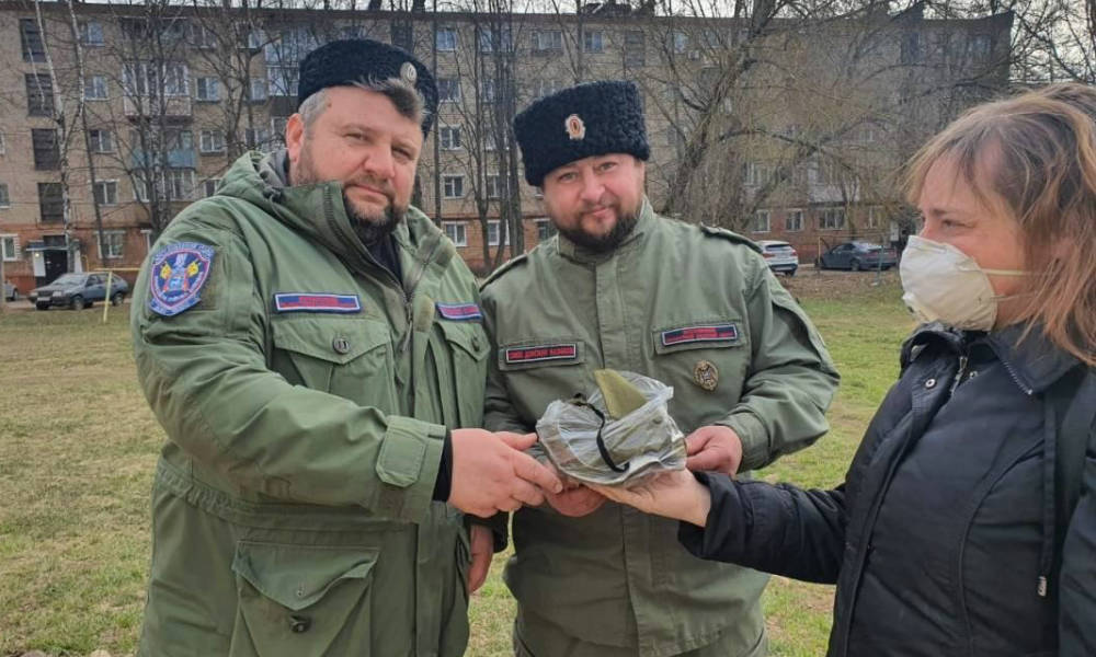Казаков благодарят жители Наро-Фоминска за помощь.