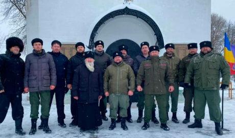 В Наро-Фоминском округе состоялось вручение знаков Союза донских казаков.